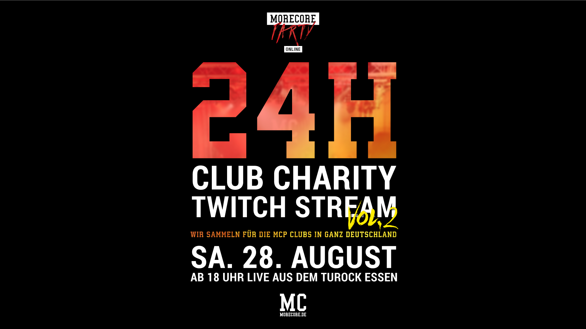MoreCore Party 24h Club Charity Twitch Livestream