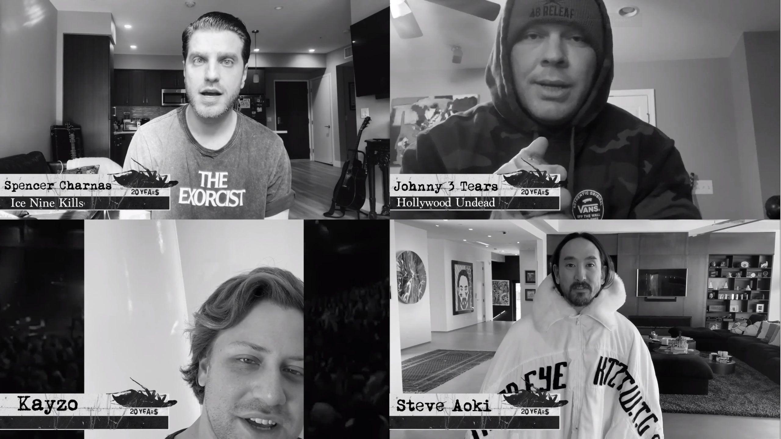Papa Roach Ice Nine Kills Hollywood Undead Kayzo Steve Aoki