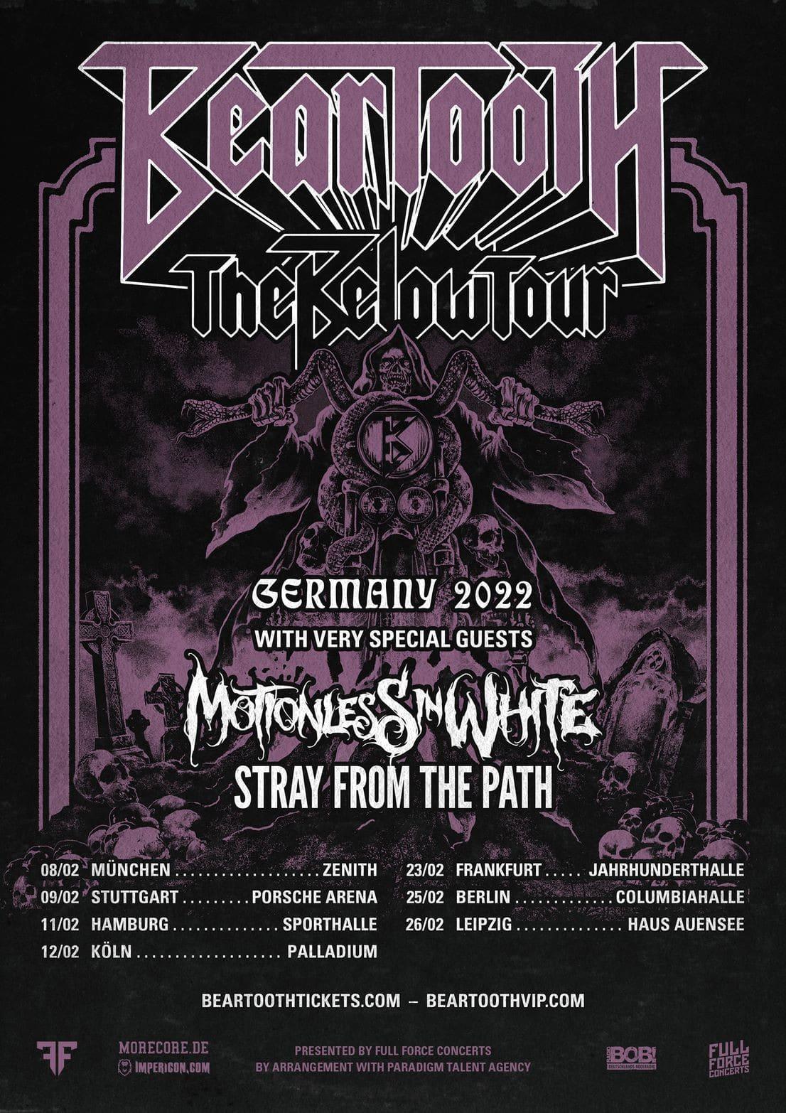 Beartooth Below Tour 2022 Tickets Konzerte