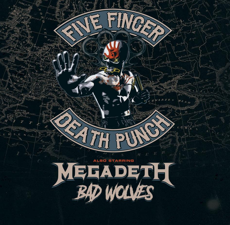 Five Finger Death Punch Megadeth Bad Wolves Megadeathpunch