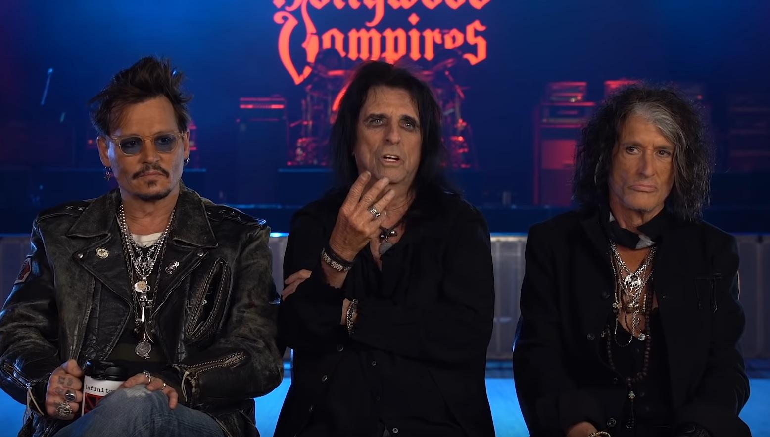 Hollywood Vampires Johnny Depp Alice Cooper