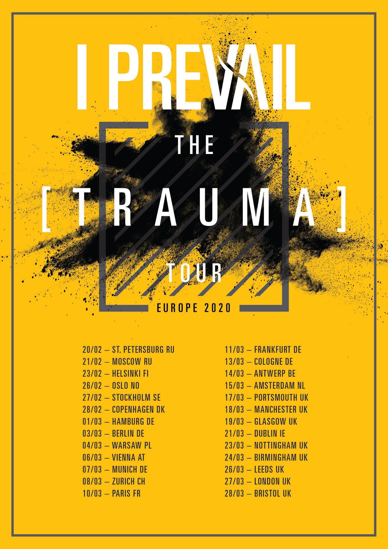 I Prevail Trauma Tour 2020