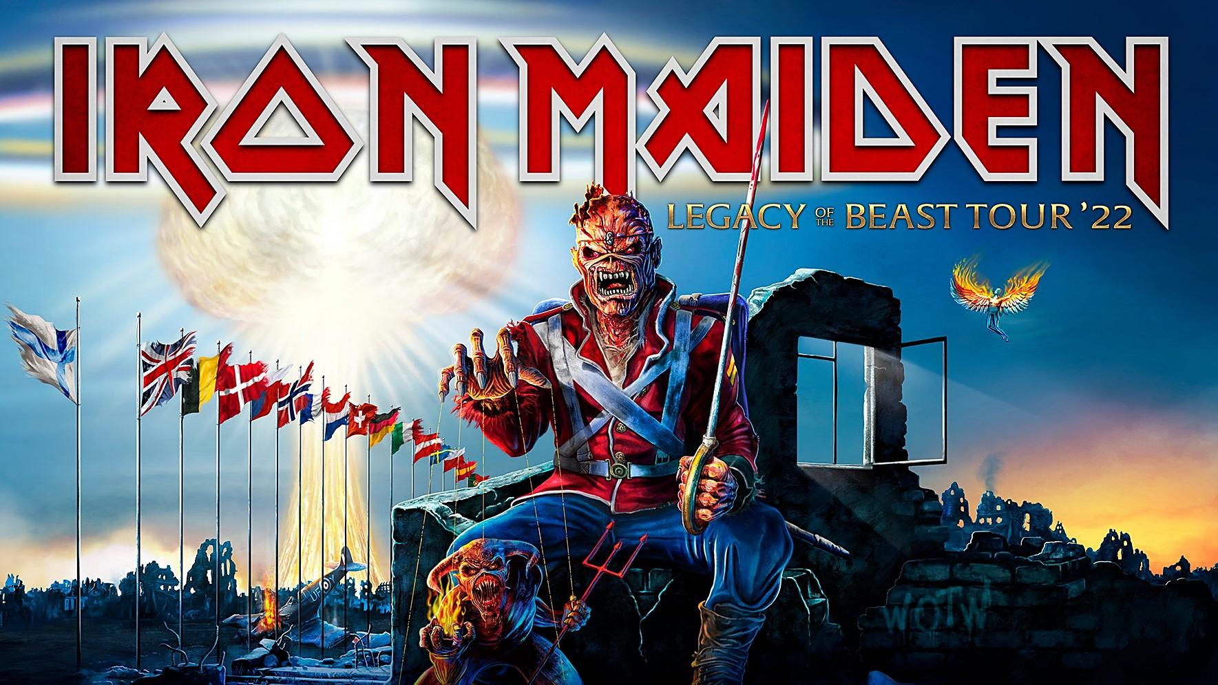Iron Maiden Legacy Of The Beast Tour 2022