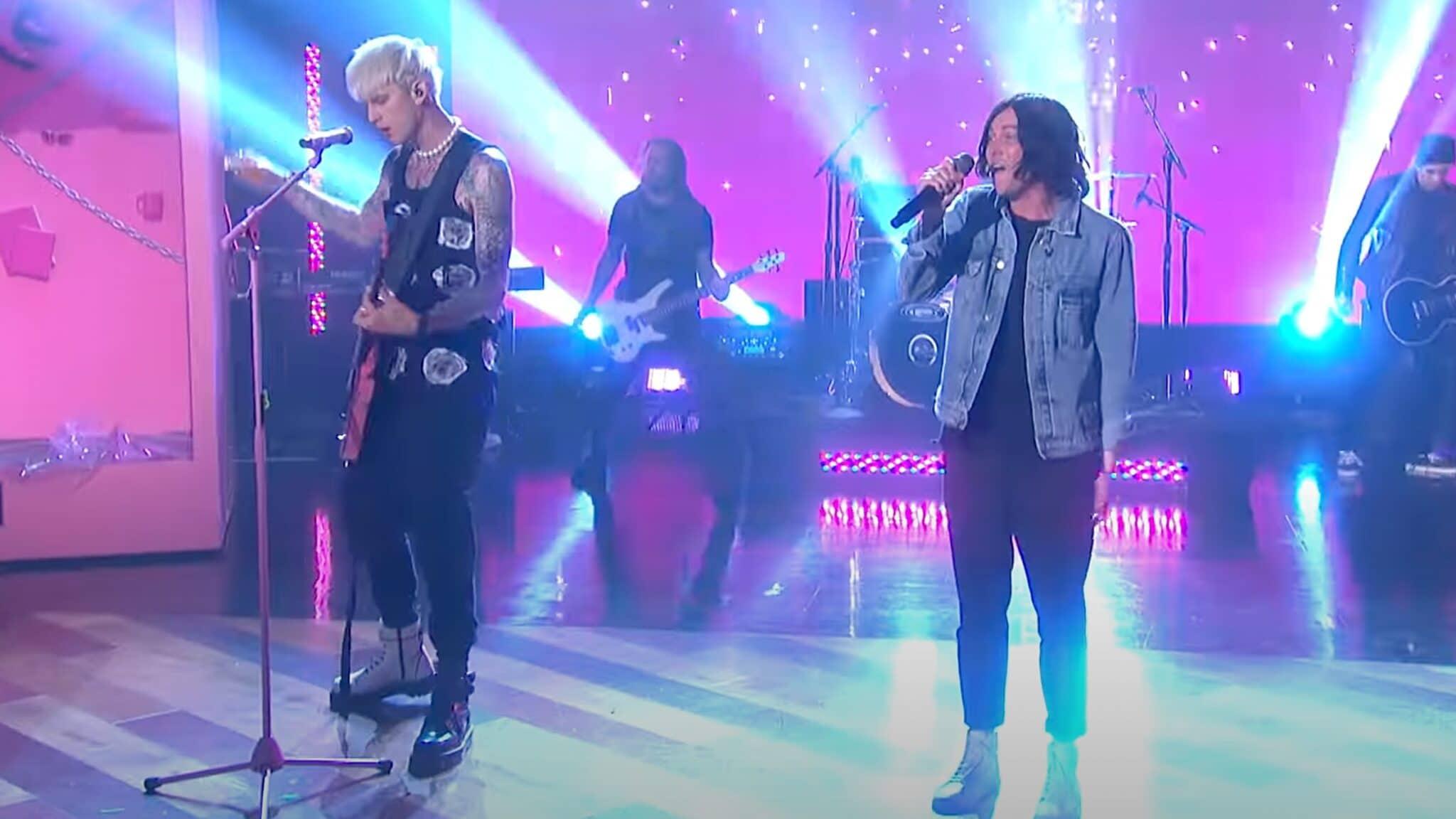 Machine Gun Kelly Kellin Quinn Sleeping With Sirens Blink-182 Travis Barker The Ellen Show Ellen DeGeneres