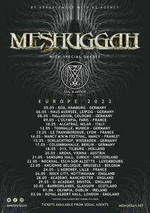 Meshuggah Tour 2022 Tickets Konzerte