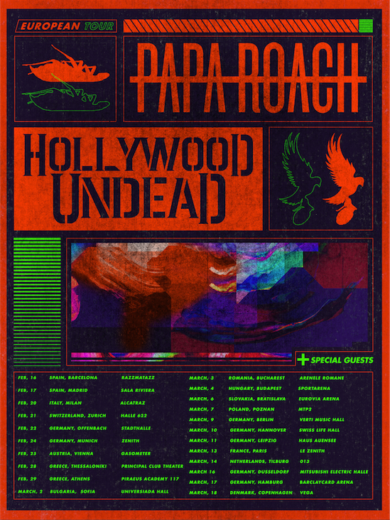 Papa Roach Hollywood Undead Tour 2020