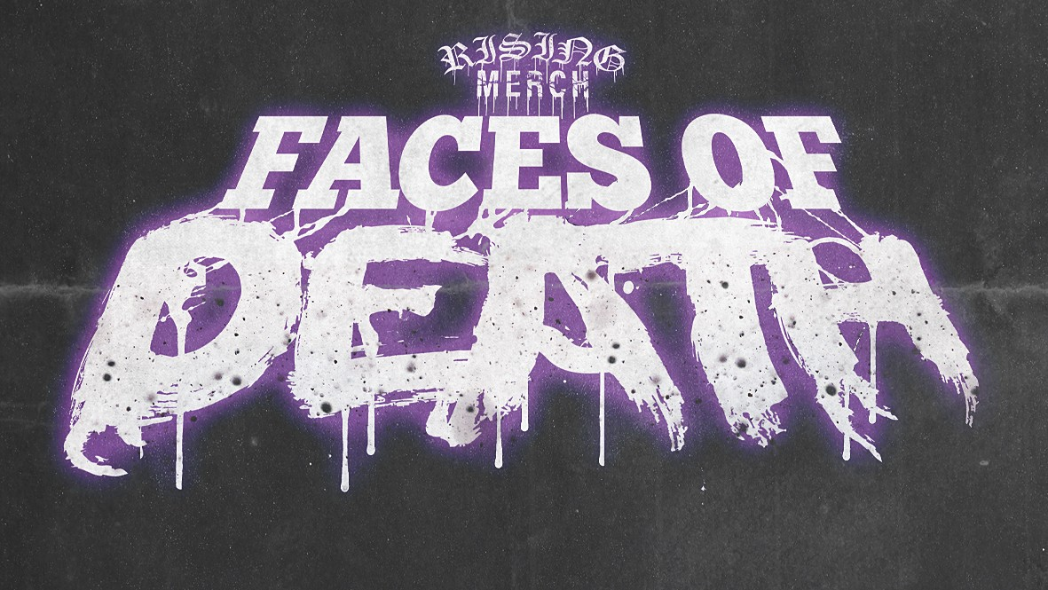 Rising Merch Faces Of Death Tour 2021